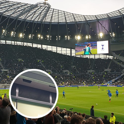 Excellence airflow in Tottenham Hotspur Stadium